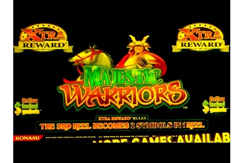 MAJESTIC WARRIORS Slot Machine ~ Xtra Rewards Bonus Win ...