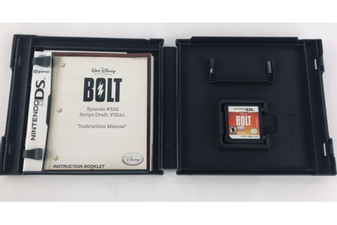 Disney Bolt (Nintendo DS) Case Book And Video Game 30 ...