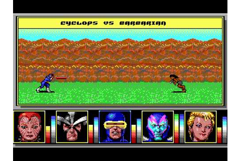 X-Men II: Fall of the Mutants (DOS) -- Avalanche and Pyro ...