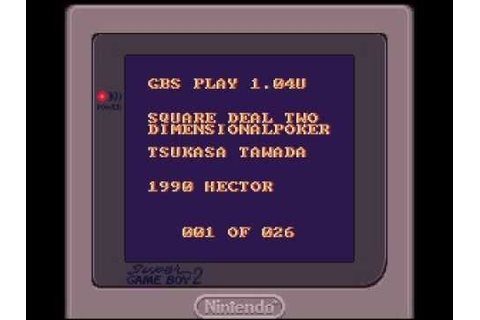 GBS (Game Boy Sound) Rip 1 ~ Square Deal - A Game of Two ...