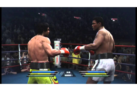 Rocky Balboa vs Muhammad Ali - Fight Night Round 4 - YouTube
