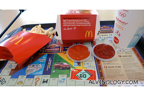 Mcdonald Monopoly Game Boards - bittorrentmagazine
