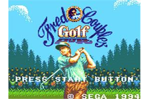 Fred Couples Golf - Sega Game Gear - Games Database