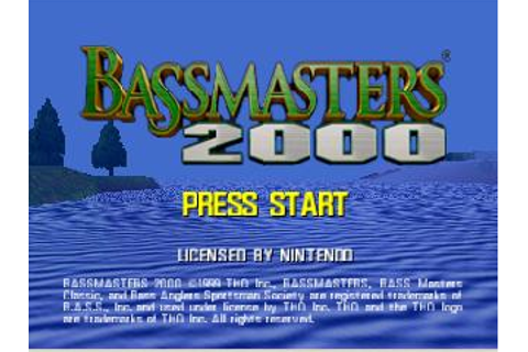 BassMasters 2000 Blue Nintendo 64 Game