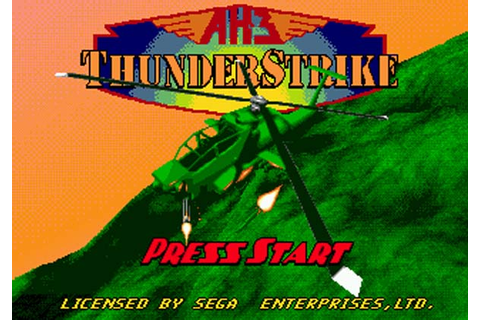 AH-3 Thunderstrike Sega CD Game