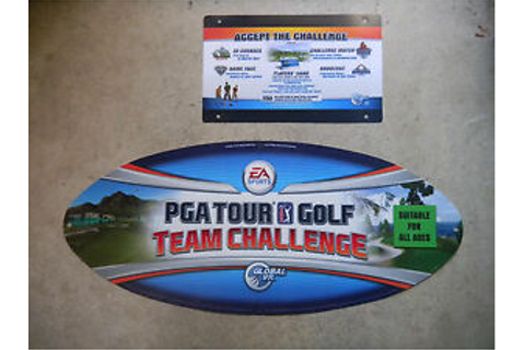 "PGA TOUR GOLF TEAM CHALLENGE 24 - 10 1/4"" arcade game sign ..."