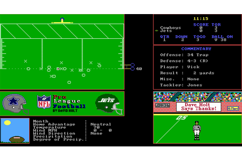 Download NFL Pro League Football (Simulation) - My Abandonware