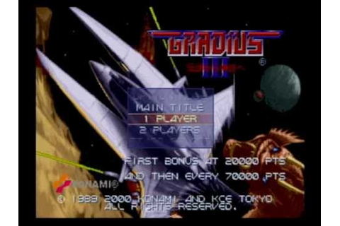 Gradius III and IV: Gameplay (PlayStation 2) - YouTube
