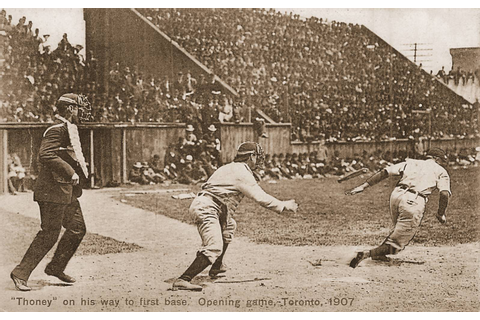 POSTCARD – TORONTO – BASEBALL OPENING GAME – THONEY ON HIS ...