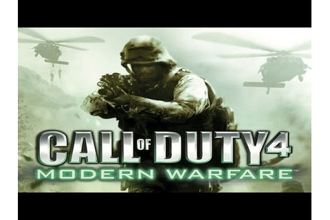 Call Of Duty 4 Modern Warfare - Game Movie - YouTube