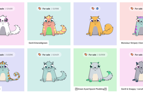 CryptoKitties lets you buy, sell, breed virtual cats using ...