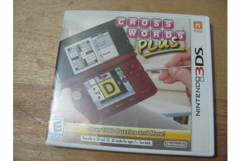 CROSSWORDS PLUS---NINTENDO 3DS GAME | eBay