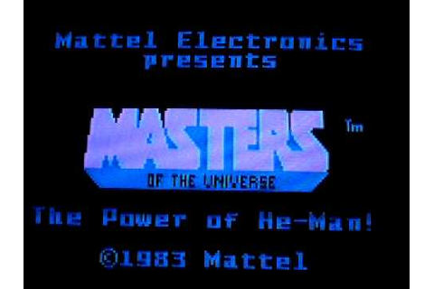 Masters of the Universe The Power of He-Man (Intellivision ...
