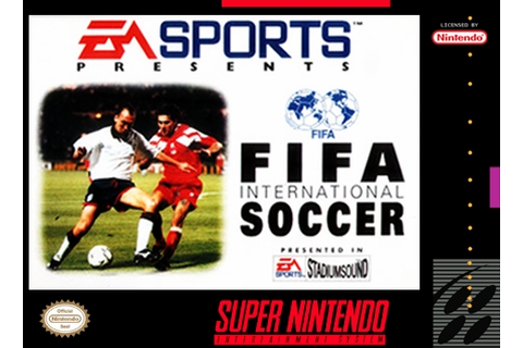 FIFA INTERNATIONAL SOCCER SNES Super Nintendo