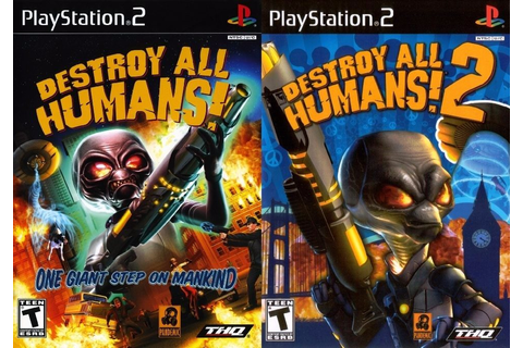 Destroy All Humans 1 E 2 Playstation 2 (kit 2 Jogos Ps2 ...