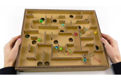 Board Game Marble Labyrinth from Cardboard | How to Make ...