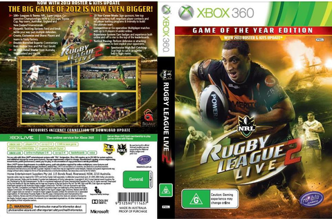 Rugby League Live 2: Game of the Year Edition (Xbox 360 ...