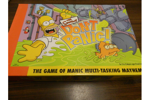 The Simpsons Don't Panic! Board Game Review and Rules ...