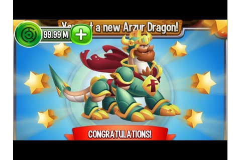 Dragon City - Arzur Dragon [Video Game Island | Completed ...