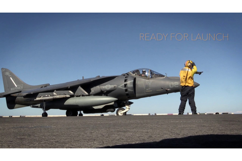 Armed, Ready - AV-8B Harrier II Takes Off - YouTube