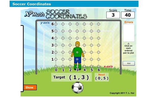 Coordinate grid soccer game (First quadrant) http://www ...