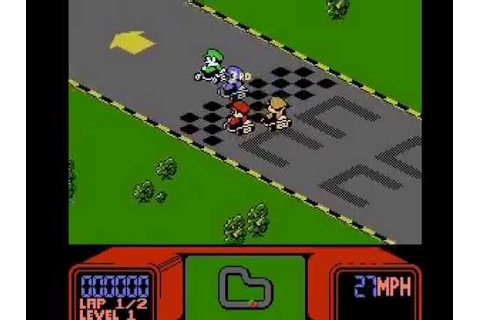 Mario Kart (Hack - R.C. Pro-Am) NES - YouTube