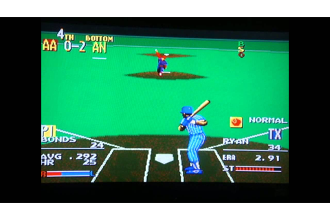 Sports Talk Baseball - Sega Genesis - All Star Custom Line ...