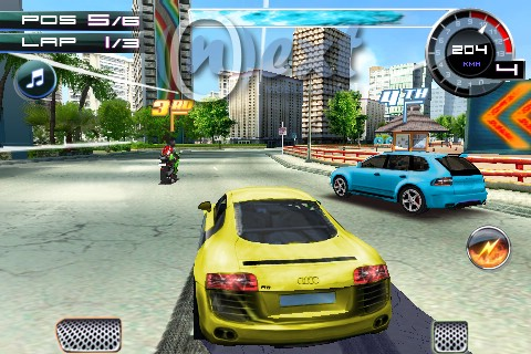 Galaxy y Center: Asphalt 5 HD