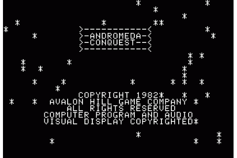 Andromeda Conquest (1982) by Avalon Hill Apple II E game
