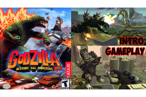 Godzilla: Destroy All Monsters Melee INTRO & GAMEPLAY ...
