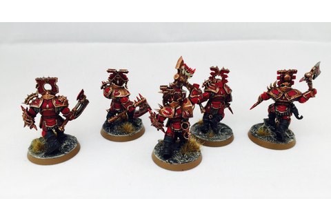 A diversion: Some Khorne Blood Warriors | Wargaming Hub