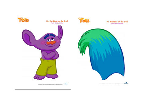 trolls printable party games | Lilly's 6th birthday ...