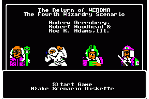 Wizardry IV: The Return of Werdna (1986) by Sir-Tech Apple ...