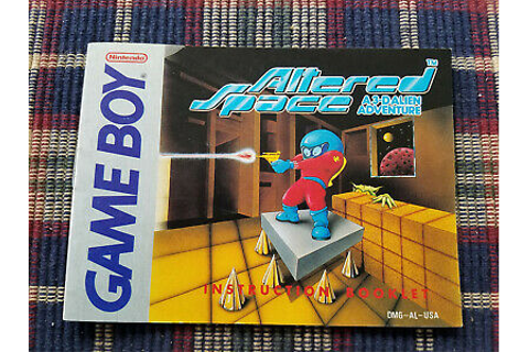 Altered Space - Authentic - Nintendo Game Boy - Manual ...