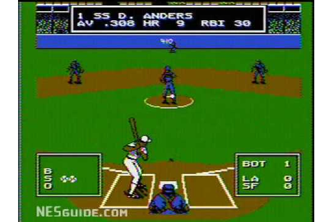 Roger Clemens' MVP Baseball - NES Gameplay - YouTube