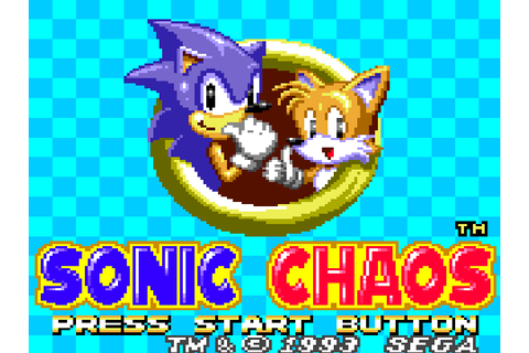 Sonic the Hedgehog Chaos - Wikipedia