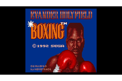 Evander Holyfield's 'Real Deal Boxing' (Game Gear 60Hz ...
