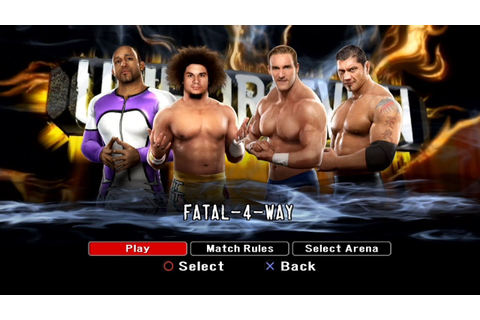 WWE SmackDown VS Raw 2008 PS3 Gameplay - Fatal-4-Way ...