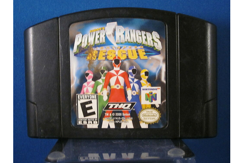 Nintendo 64 N64 Power Rangers Lightspeed Rescue Video Game ...