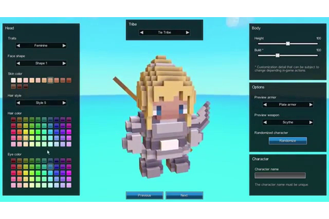 Metaworld - Voxel Online RPG: Character Creation - YouTube