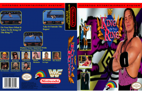 WWF King Of The Ring NES Box Art Cover by Mario216
