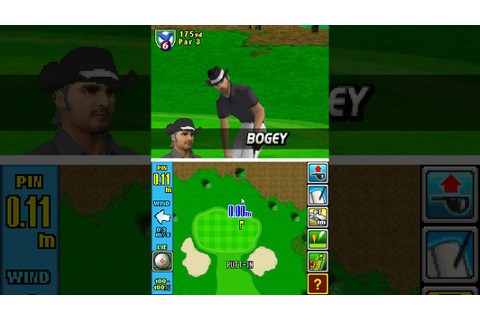 Nintendo Touch Golf Birdie Challenge gameplay on NDS - YouTube