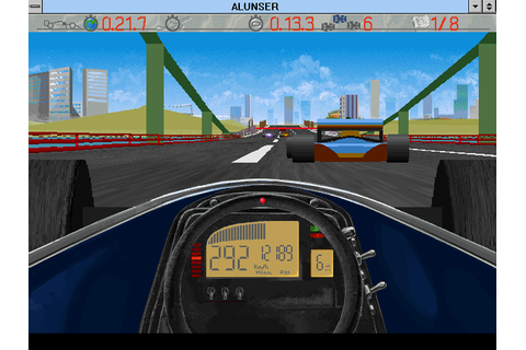 Al Unser, Jr. Arcade Racing (1995) Win3.1 game