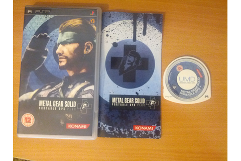 Metal Gear Portable Ops Plus (Sony Playstation Portable ...