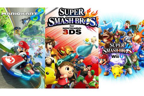 Super Smash Bros. for Wii U & Nintendo 3DS, Mario Kart 8 ...