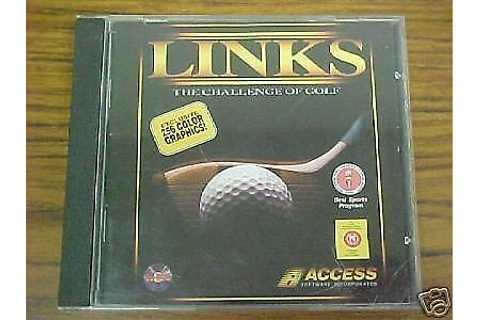 Links: The Challenge of Golf (PC, 1991) VIDEO GAME BRAND ...