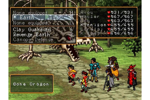 Suikoden and Suikoden II are on PSN, and you should buy ...