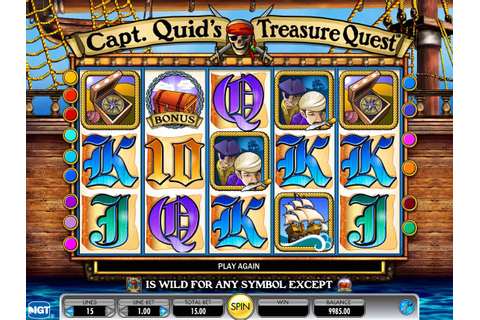 Capt. Quid's Treasure Quest ™ Slot Machine - Play Free ...
