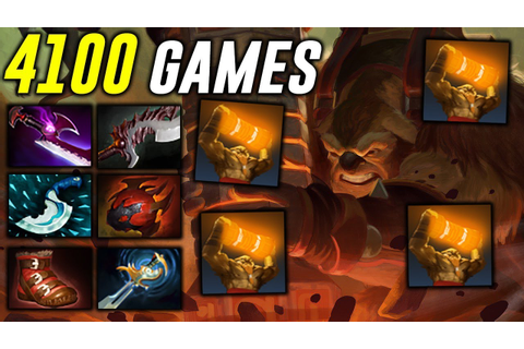4100 Games Earthshaker Super Carry Dota 2 - YouTube