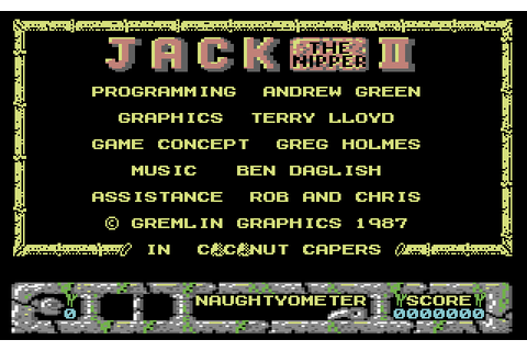Jack the Nipper II: In Coconut Capers (1987) C64 game